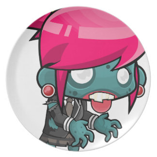 Comic Woman Zombie Plate