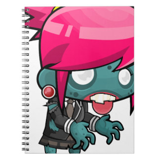 Comic Woman Zombie Spiral Notebook