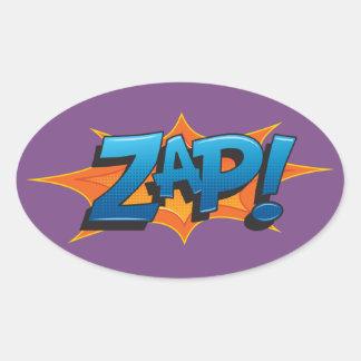 Comic Zap! Oval Sticker