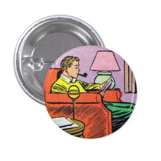 COMICAL Button   A Man's Man
