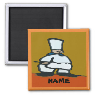 Comical Chef,add text Magnet