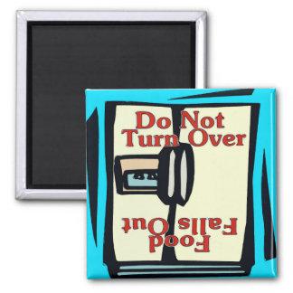 Comical fridge magnet, Do Not Turn Over Square Magnet