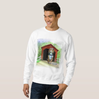 Comical Sandy Creek Covered Bridge Dog House Sweatshirt