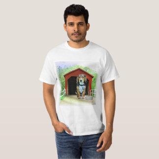 Comical Sandy Creek Covered Bridge Dog House T-Shirt