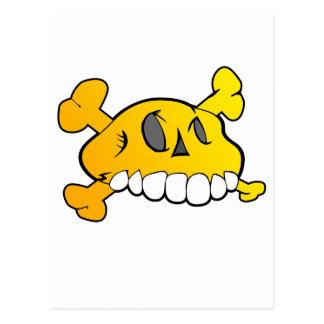 Comical Skull Postcard