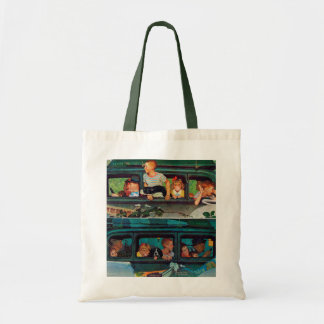 Coming and Going by Norman Rockwell Tote Bag