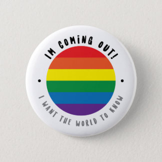 Coming Out - Gay 6 Cm Round Badge