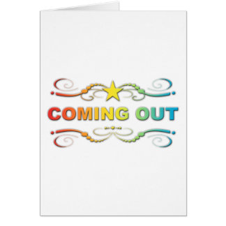 coming out : rainbow flourish card
