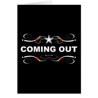 coming out : rainbow flourish card