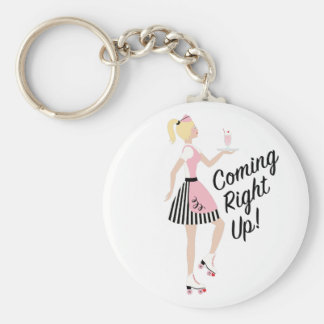 Coming Right Up Key Ring