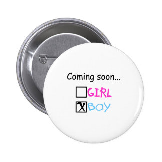 Coming Soon Boy Pinback Buttons