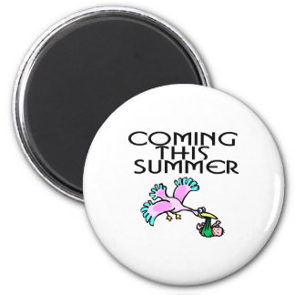 Coming This Summer 6 Cm Round Magnet
