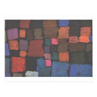 Coming to bloom by Paul Klee Postcard