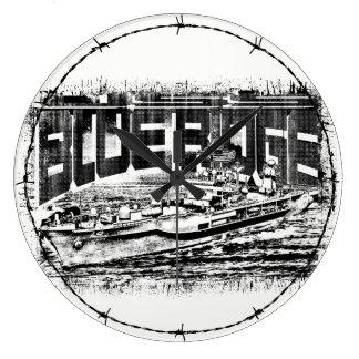 Command ship Blue Ridge Acrylic Wall Clock