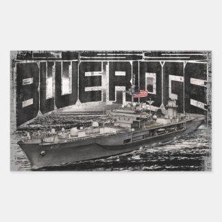 Command ship Blue Ridge Rectangle Stickers Sticker