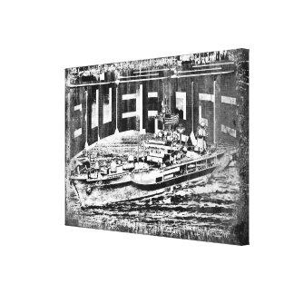 Command ship Blue Ridge Stretched Canvas Print