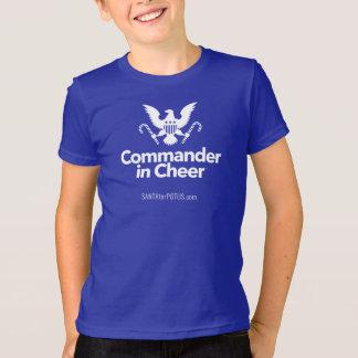 """""""Commander in Cheer"""" kid's American Apparel tee"""