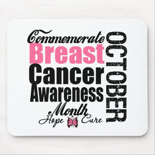 Commemorate Breast Cancer Awareness Month Mousepads