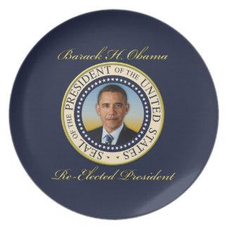 Commemorative President Barack Obama Re-Election Dinner Plate