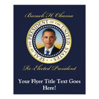 Commemorative President Barack Obama Re-Election Flyer