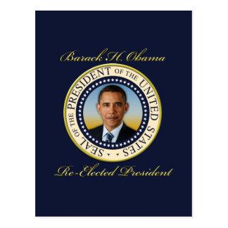 Commemorative President Barack Obama Re-Election Postcard