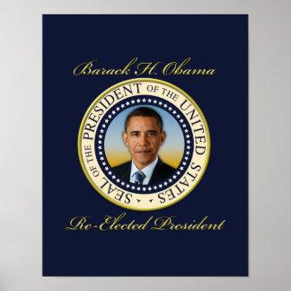 Commemorative President Barack Obama Re-Election Posters