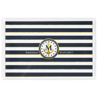 Commemorative Wedding/Anniversary Nautical Acrylic Tray