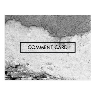 comment card city wall postcard