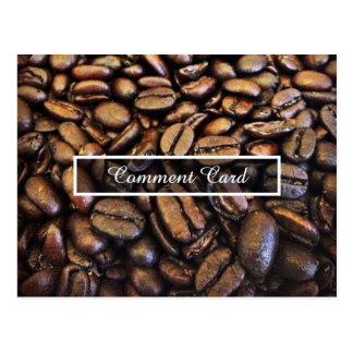 comment card coffee beans postcard