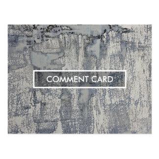 comment card crispy texture postcard