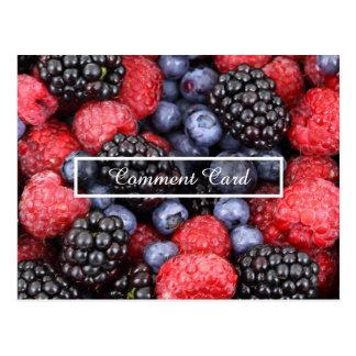comment card fruits postcard