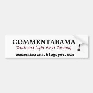 Commentarama Bumper Sticker