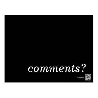 comments? postcard