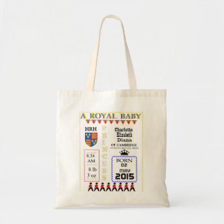 Commeorative Keepsakes Royal Princess Charlotte Tote Bag