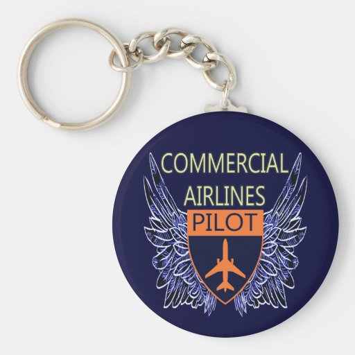 Commercial Airlines Pilot Key Chains