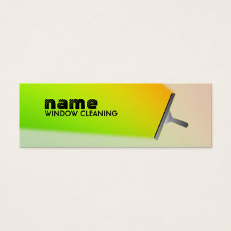 Commercial Cleaning skinny business cards
