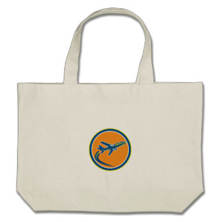 Commercial Jet Plane Airline Flying Retro Tote Bag