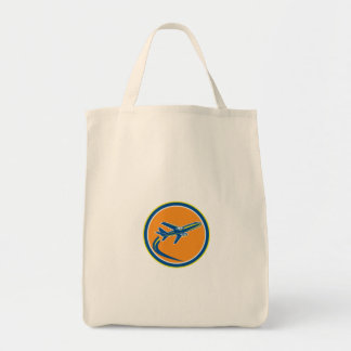 Commercial Jet Plane Airline Flying Retro Canvas Bag