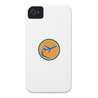 Commercial Jet Plane Airline Flying Retro iPhone 4 Cases