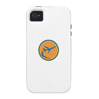 Commercial Jet Plane Airline Flying Retro Vibe iPhone 4 Cases