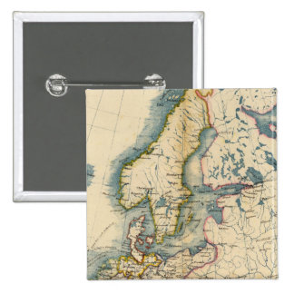 Commerciale Industrial Map of Europe 15 Cm Square Badge