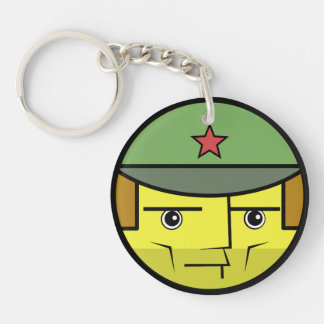 Commie Face Key Ring
