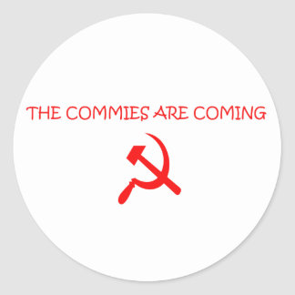 COMMIES CLASSIC ROUND STICKER