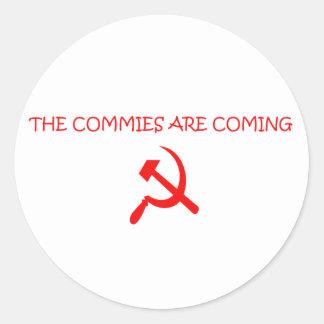 COMMIES ROUND STICKER