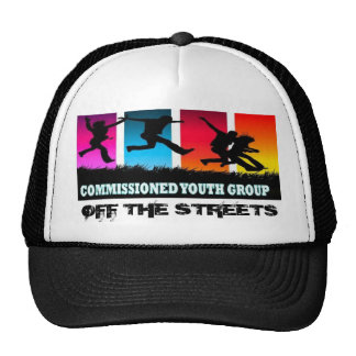 commissioned youth, OFF THE STREETS Trucker Hat