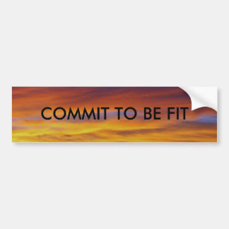 COMMIT TO BE FIT BUMPER STICKER