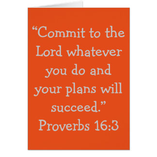 """Commit to the Lord"" Scripture Greeting Card"