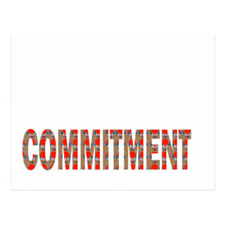 COMMITMENT Promise Oath Responsibility LOWPRICE GI Postcard