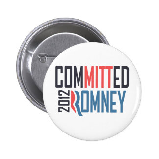 Committed Romney 6 Cm Round Badge