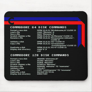 Commodore Disk Commands Mouse Pad